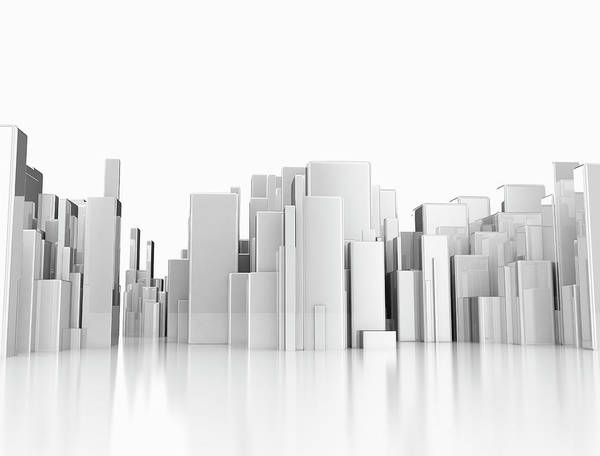 Wall Art - Photograph - Abstract Cityscape by Jesper Klausen / Science Photo Library