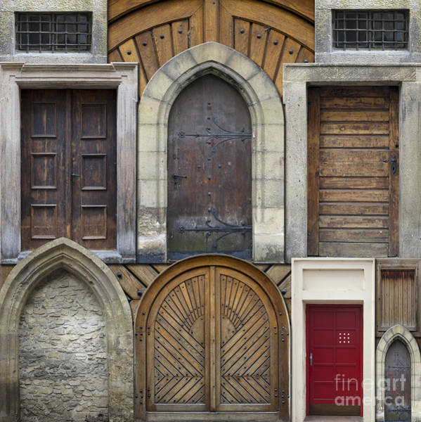 Wall Art - Photograph - Abstract Collage Of Old Doors by Michal Boubin