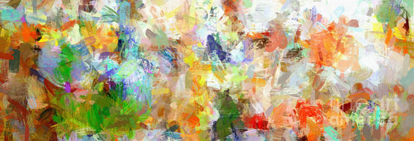 Digital Art - Abstract Collage Panorama by Ginette Callaway
