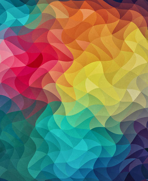 Wall Art - Digital Art - Abstract Color Wave Flash by Philipp Rietz