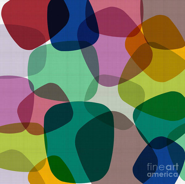 Wall Art - Digital Art - Abstract Colorful Background. Vector by Zeber