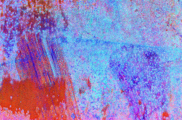 Horizontal Abstract Photograph - Abstract Coloured, Textured Background by Rob Atkins
