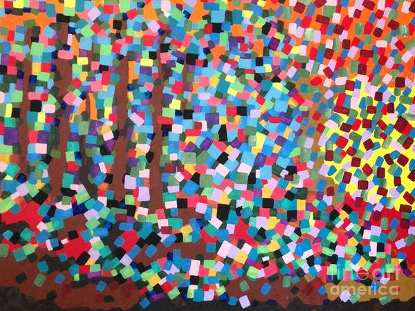 Painting - Abstract-colours by Monika Shepherdson