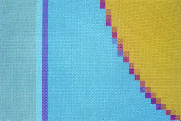 Pixel Photograph - Abstract Computer Graphic Pattern Showing Pixels by Francoise Sauze/science Photo Library