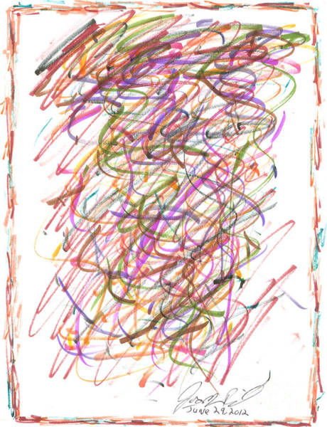 Surrealist Drawing - Abstract Confetti Celebration by Joseph Baril
