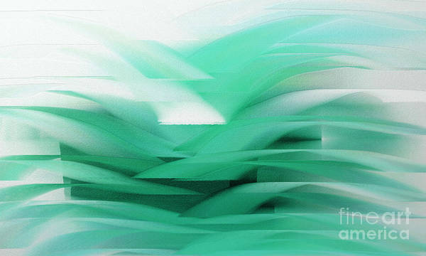 Digital Art - Abstract Cool Waves 2  by Andee Design