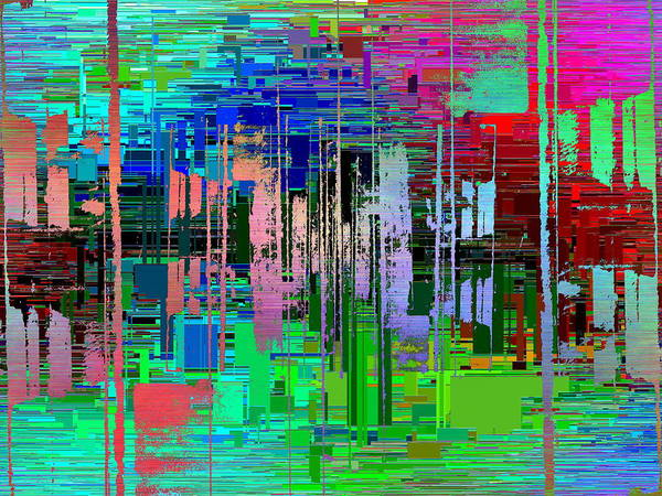Manipulated Digital Art - Abstract Cubed 19 by Tim Allen