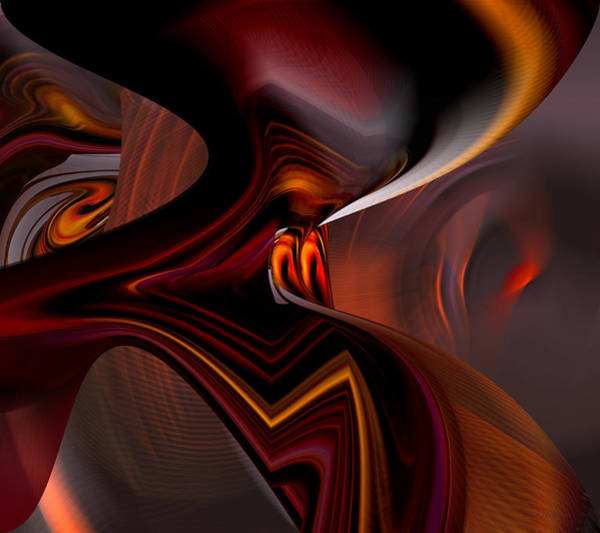 Digital Art - Abstract - Dark Passages by rd Erickson