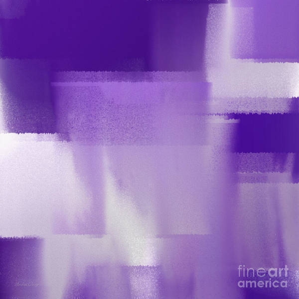 Digital Art - Abstract Dark Purple Square by Andee Design