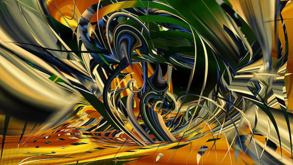 Digital Art - Descent Into Hell - Abstract by rd Erickson