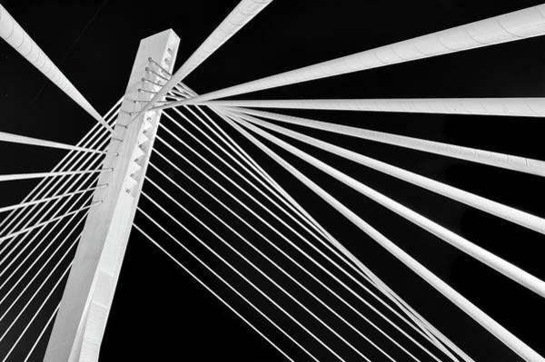 Photograph - Abstract Detail Of A Suspension Bridge by Tunart