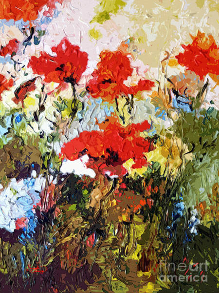 Painting - Abstract Expressive Poppies Provencale by Ginette Callaway