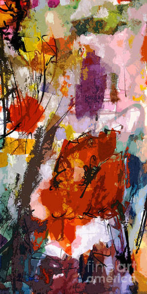 Painting - Abstract Expressive Red Poppies by Ginette Callaway