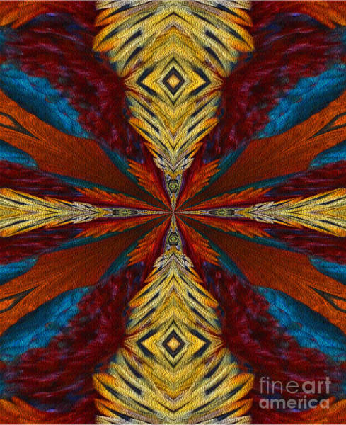 Digital Art - Abstract Feathers by Smilin Eyes  Treasures
