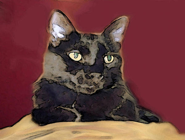 Mixed Media - Abstract Feline by Dennis Buckman