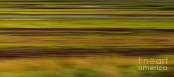 Photograph - Abstract - Fields At Harvest Time by Les Palenik
