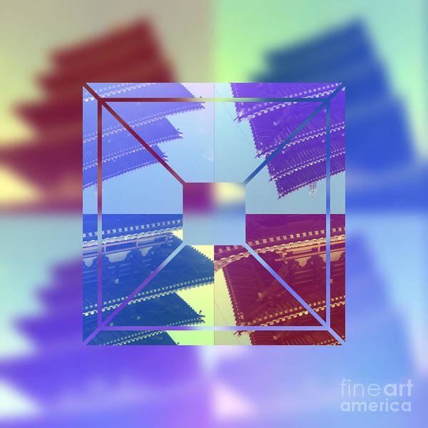 Digital Art - Abstract Five-storied Pagoda 2 by Beverly Claire Kaiya