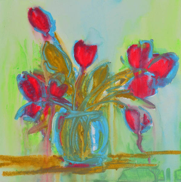 Painting - Abstract Flowers by Patricia Awapara