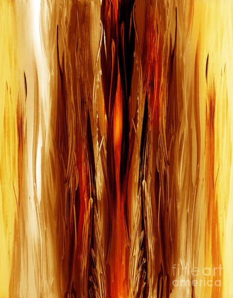 Painting - Abstract Forest Hidden Secrets by Irina Sztukowski
