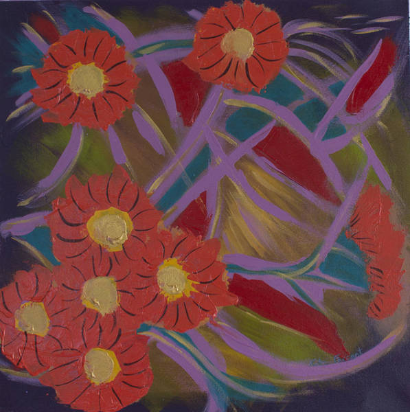 Kate Farrant - Abstract Floral painting