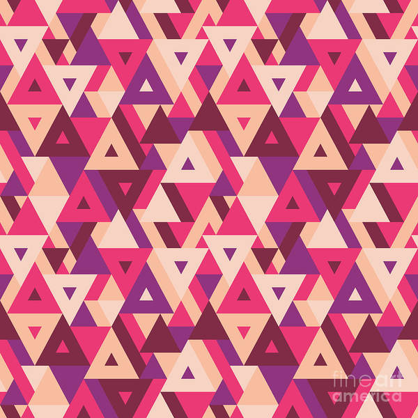 Triangle Digital Art - Abstract Geometric Background - by Sergey Korkin