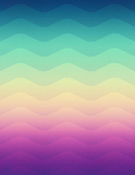 Wall Art - Digital Art - Abstract Geometric Candy Rainbow Waves Pattern Multi Color by Philipp Rietz