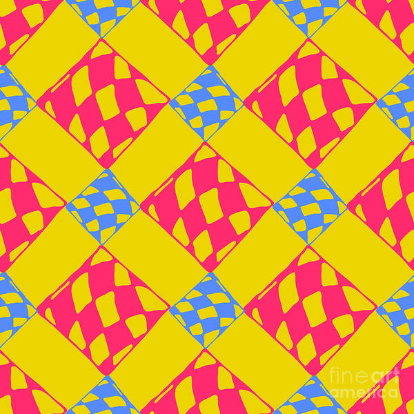 Symmetrical Digital Art - Abstract Geometric Colorful Seamless by Many Backgrounds