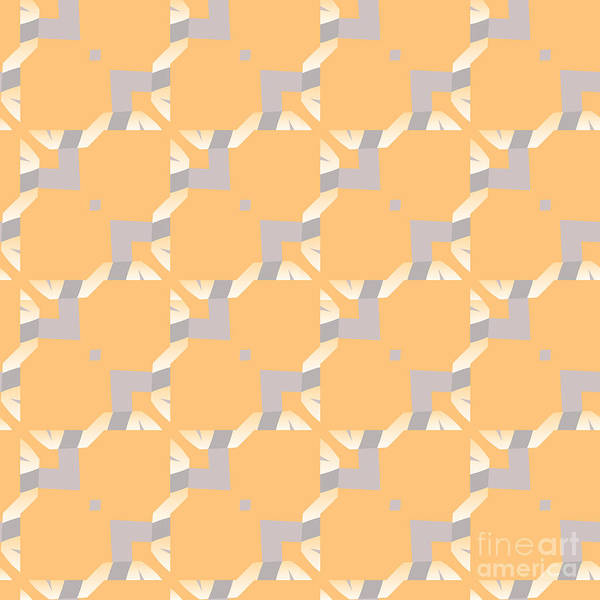 Symmetrical Digital Art - Abstract Geometric Pattern. Vector by Artsandra