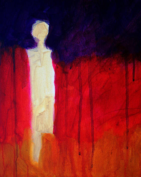 Wall Art - Painting - Abstract Ghost Figure No. 1 by Nancy Merkle