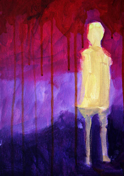 Abstract People Painting - Abstract Ghost Figure No. 3 by Nancy Merkle