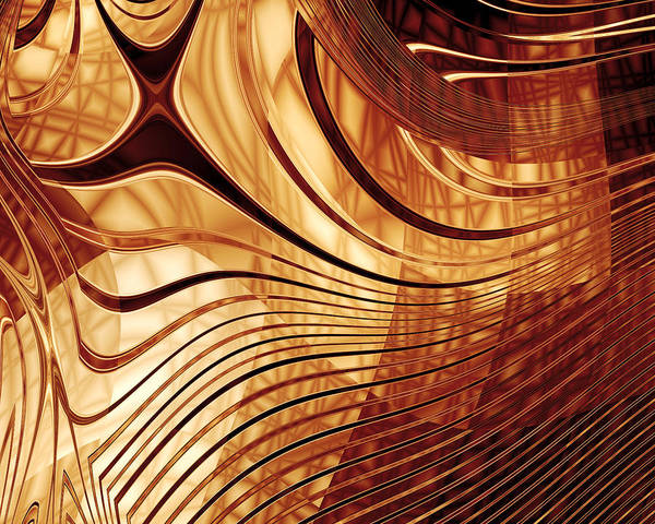 Photograph - Abstract Gold 2 by Carlos Diaz