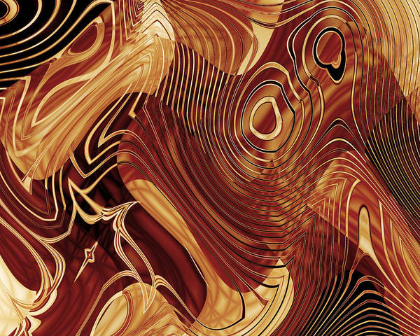 Photograph - Abstract Gold 3 by Carlos Diaz