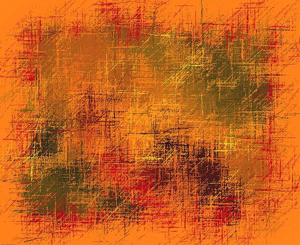 Easter Sunday Digital Art - Abstract Golden Earth Tones Abstract by L Brown