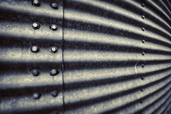 Silo Photograph - Abstract Grain Silo by Thomas Zimmerman
