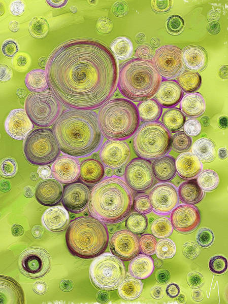Finger Painting - Abstract Grapes by Veronica Minozzi