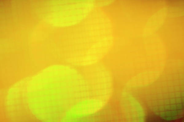 Yellow Photograph - Abstract Grid Light Pattern by Brian Stablyk