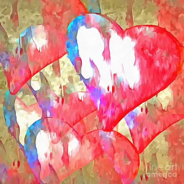 Founded Photograph - Abstract Hearts 16 by Edward Fielding