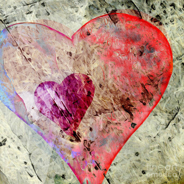 Photograph - Abstract Hearts 17 by Edward Fielding