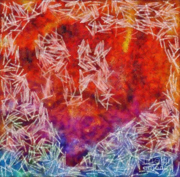 Photograph - Abstract Hearts 18 by Edward Fielding