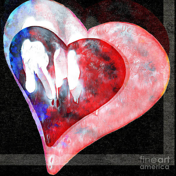 Photograph - Abstract Hearts 19 by Edward Fielding