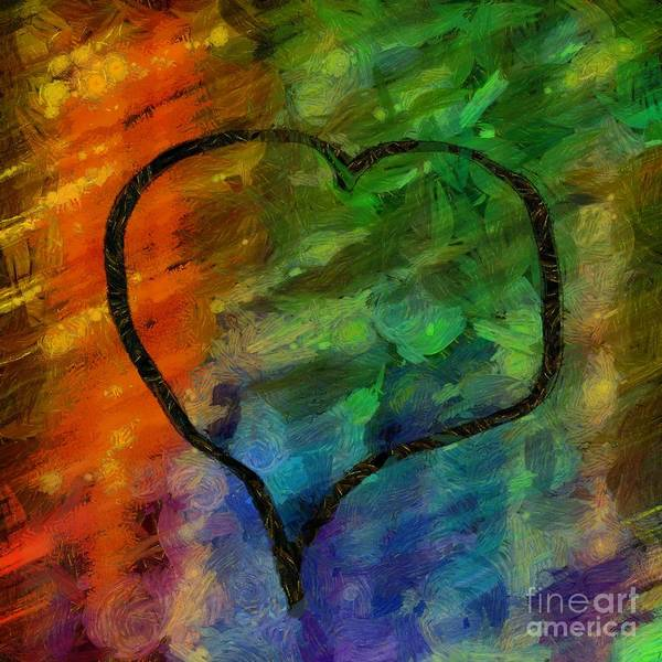 Photograph - Abstract Hearts 22 by Edward Fielding