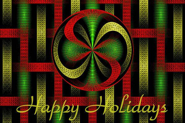 Digital Art - Abstract Holiday Card by Sandy Keeton