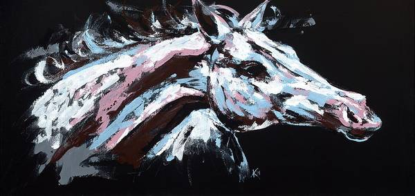 Painting - Abstract Horse by Konni Jensen