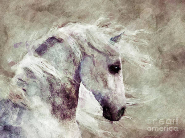 Painting - Abstract Horse Portrait by Elle Arden Walby