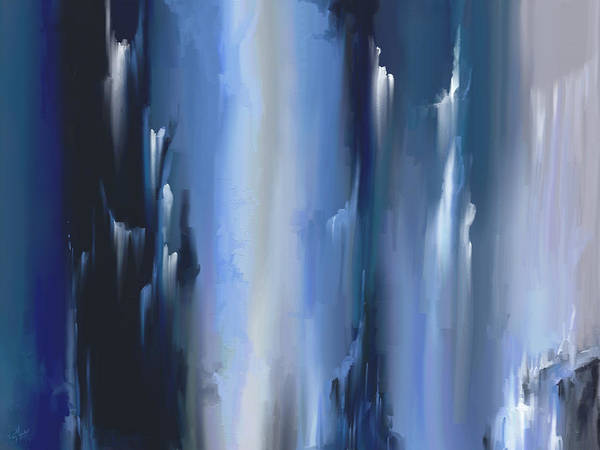 Slate Painting - Abstract Ice Blue by Daniel Mowry