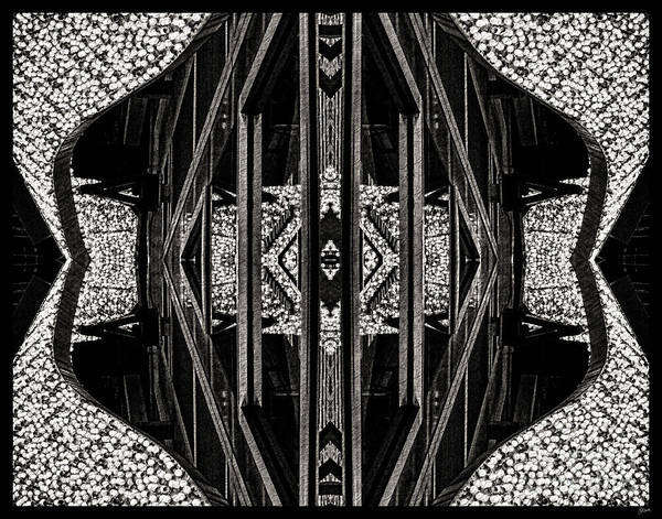 Photograph - Abstract In Black And White by Jeff Breiman