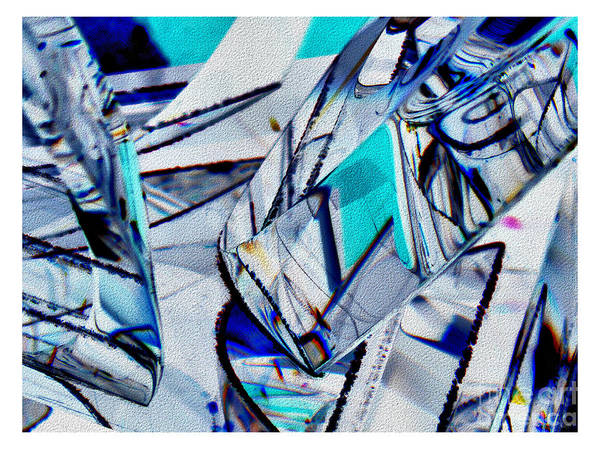 Photograph - Abstract In Blue And White by Jeff Breiman