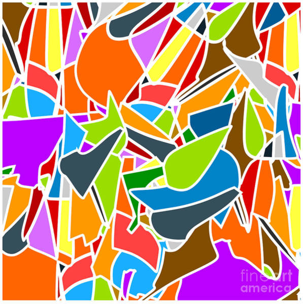 Ornamental Wall Art - Digital Art - Abstract Kaleidoscope Vintage Cartoon by Olha Sidorova