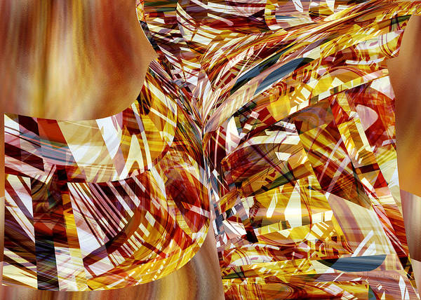 Digital Art - Kimono Silk -  Abstract Art by rd Erickson