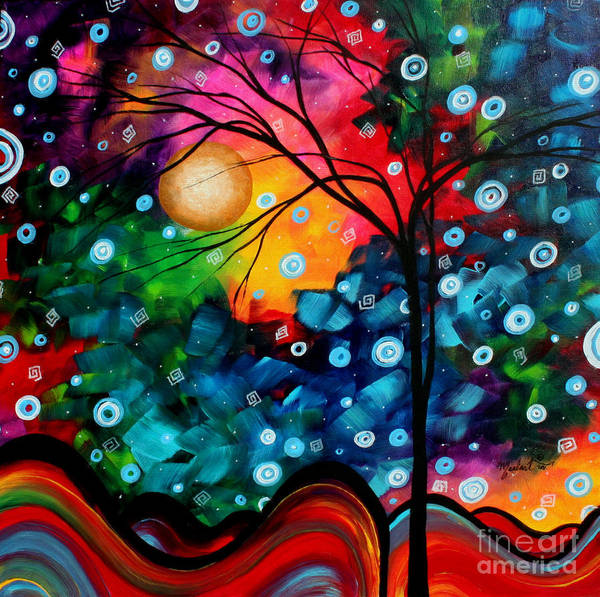Wall Art - Painting - Abstract Landscape Colorful Contemporary Painting By Megan Duncanson Brilliance In The Sky by Megan Duncanson